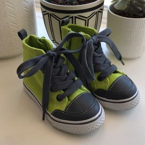 Crazy 8 High Top Neon Green Sneakers - Size 6